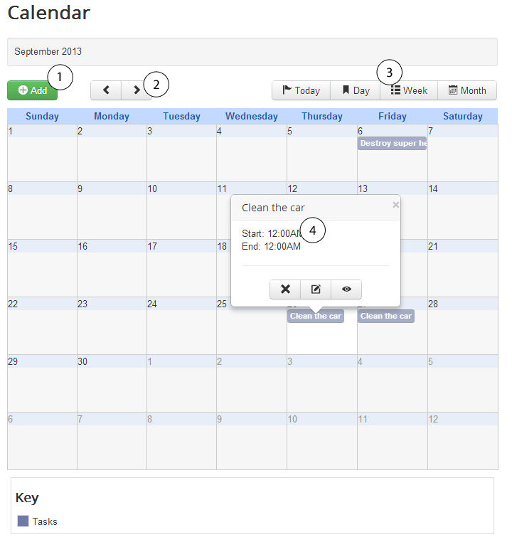 calendar visualization fabrik